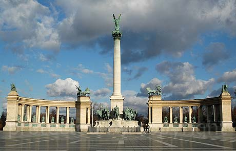 Heros square in Budapest Hungary